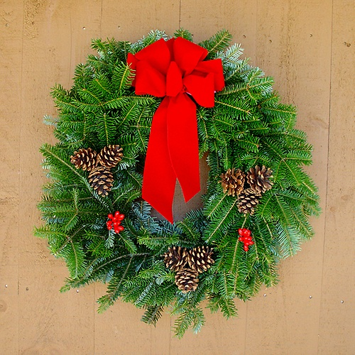 Beautiful Evergreen Wreath for the Holidays